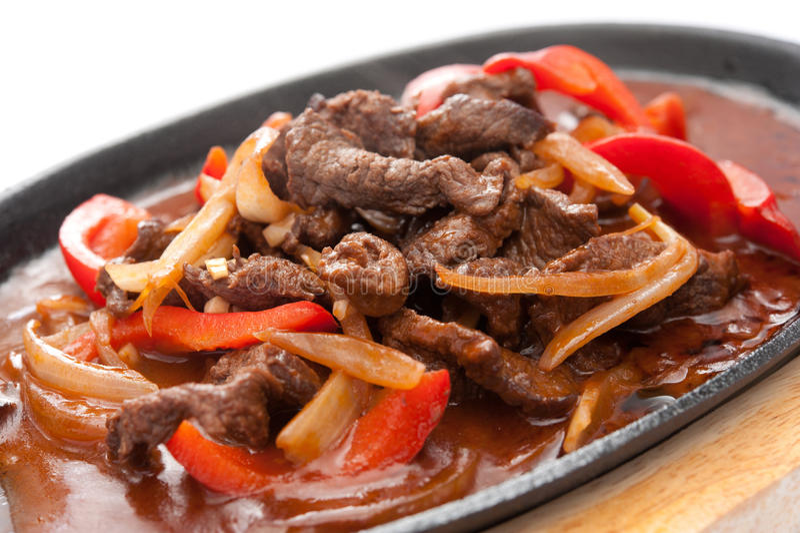 Meat med grönsaker royaltyfri foto