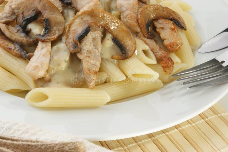 meat mushroom pasta стоковые изображения rf