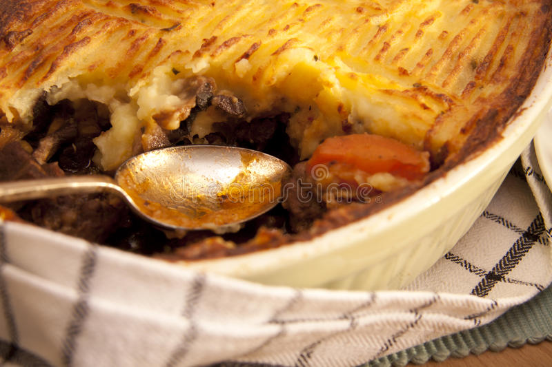 Download Meat pie. stock photo. Image of homemade, carrots, mashed - 19686214