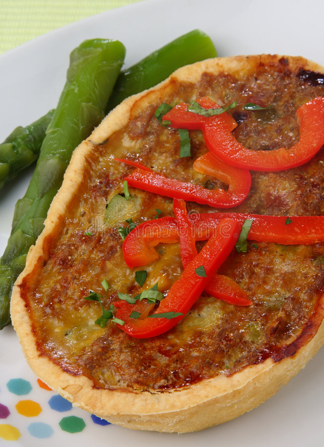 Download Meat Pie With Asparagus And Fresh Red  Pepper Stock Photo - Image: 7842468