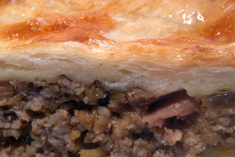Meat pie close up royalty free stock photo