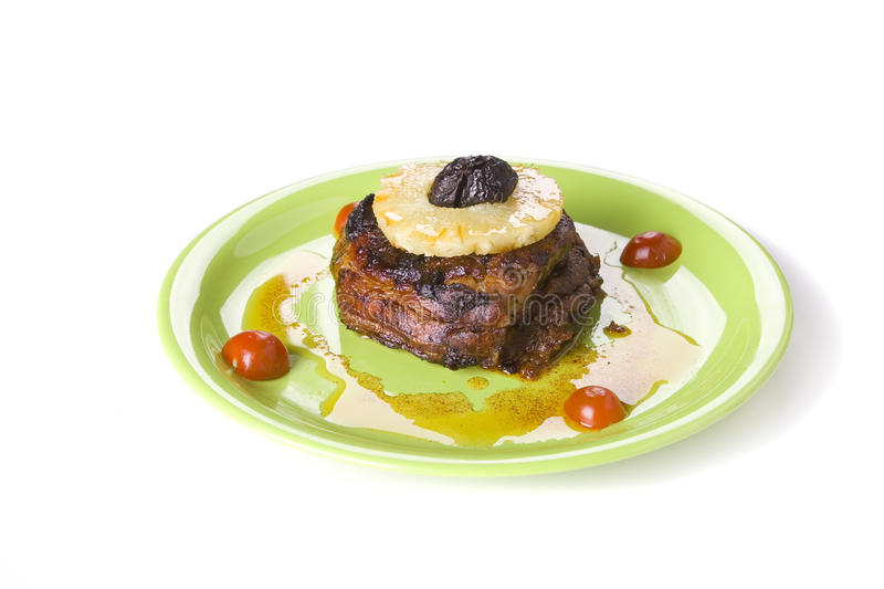 Download Meat with pineappl stock image. Image of grilled, lamb - 13114345