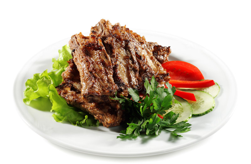 Meat Plate stock image