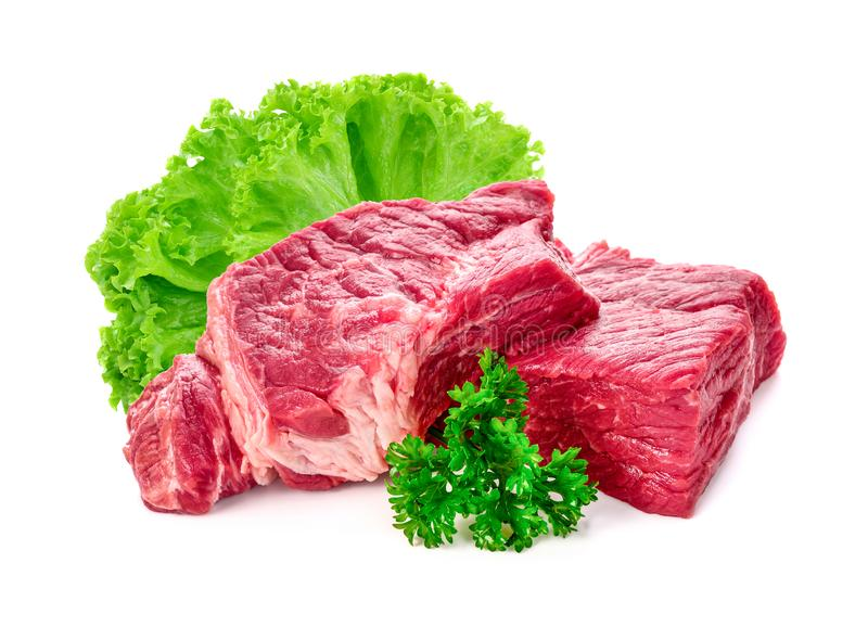 Meat, pork isolated on a white stock photo