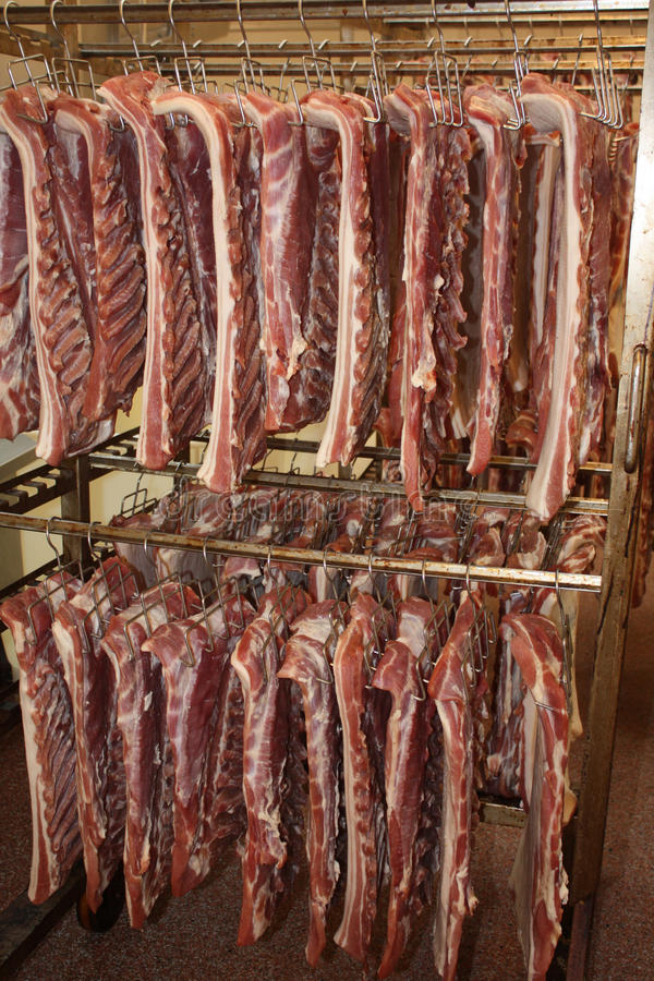 Meat in production proces