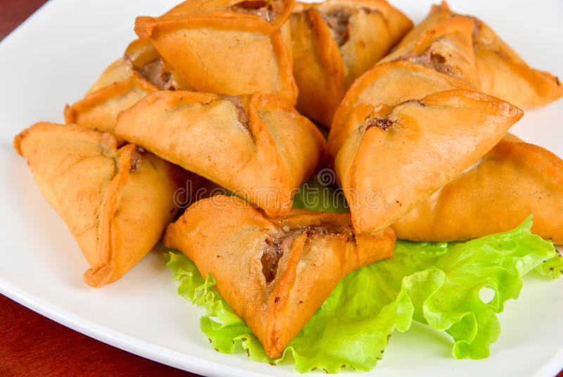 Meat roasted dumplings stock photography