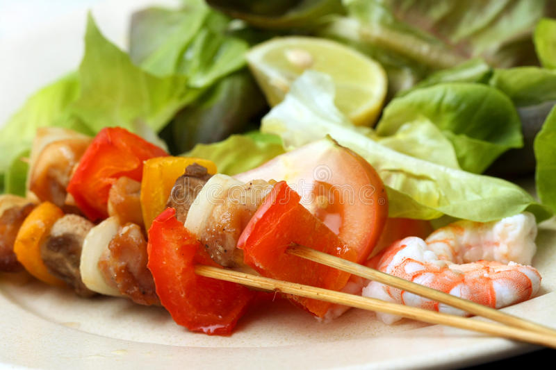 Download Meat Skewer With Vegetables Stock Photo - Image: 31225444