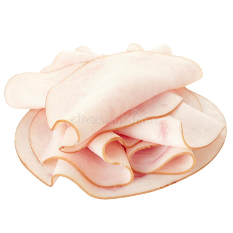 meat skivad kalkon royaltyfri foto