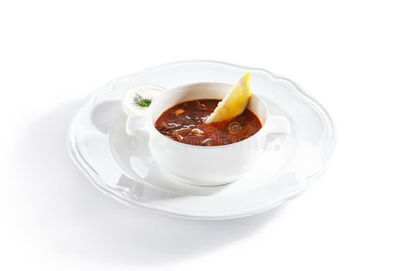 Meat Solyanka, Soljanka or Saltwort Soup  royalty free stock image