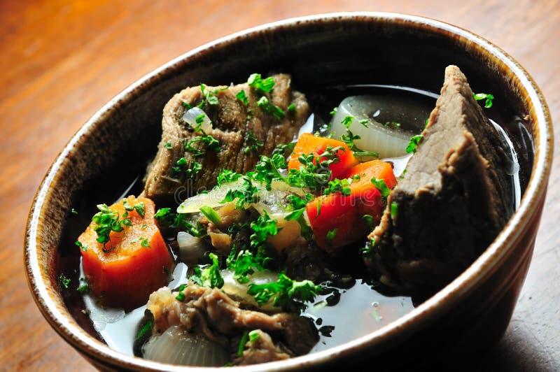 meat solyanka sorterar olik soup arkivbild