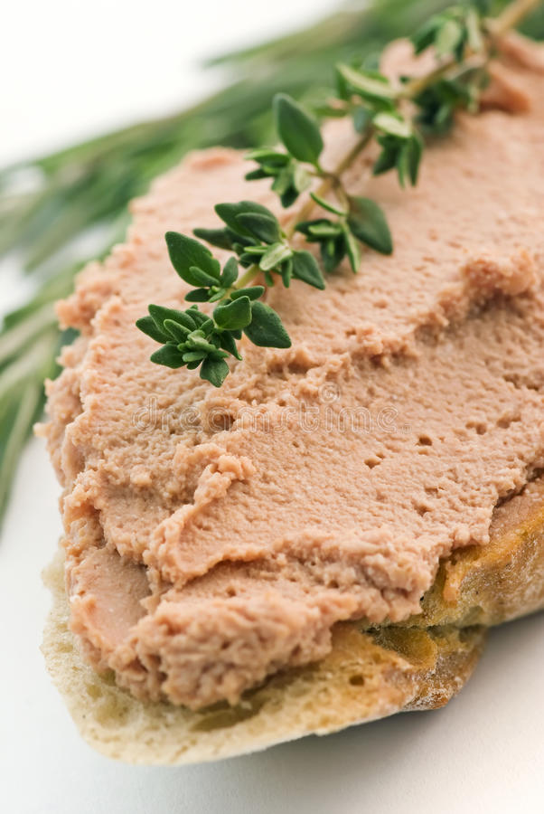 Meat spread stock images
