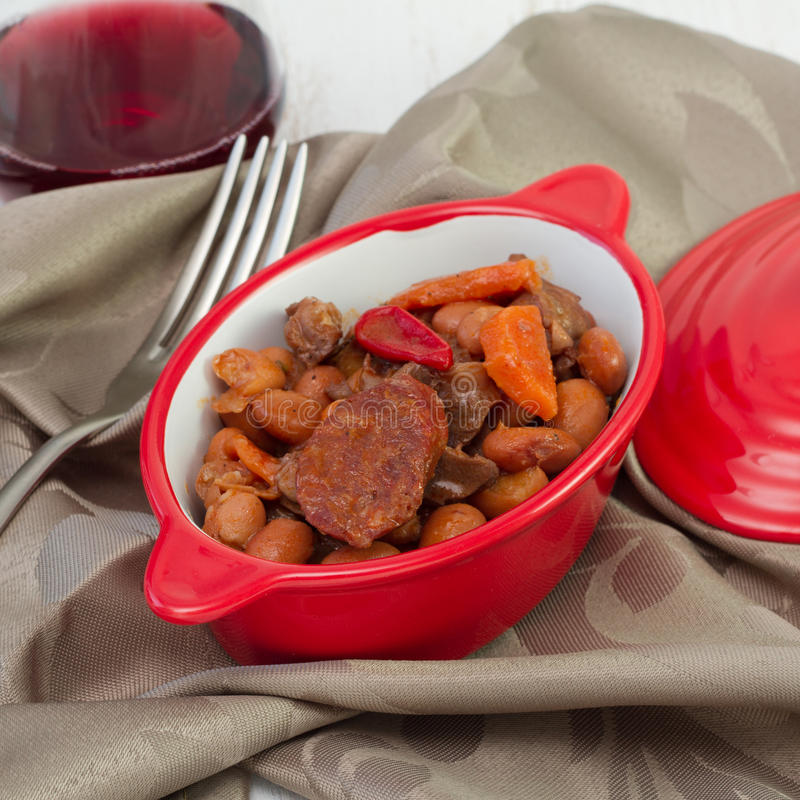Download Meat stew with sausages stock image. Image of meal, prepared - 27783491