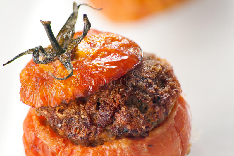 Download Meat Stuffed Tomatoes stock image. Image of white, vegetable - 14080305