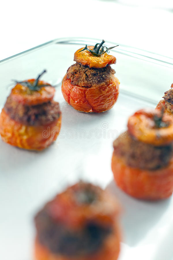 Download Meat Stuffed Tomatoes stock image. Image of breadcrumbs - 14080549
