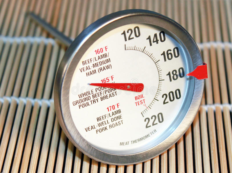 Meat thermometer royalty free stock photos