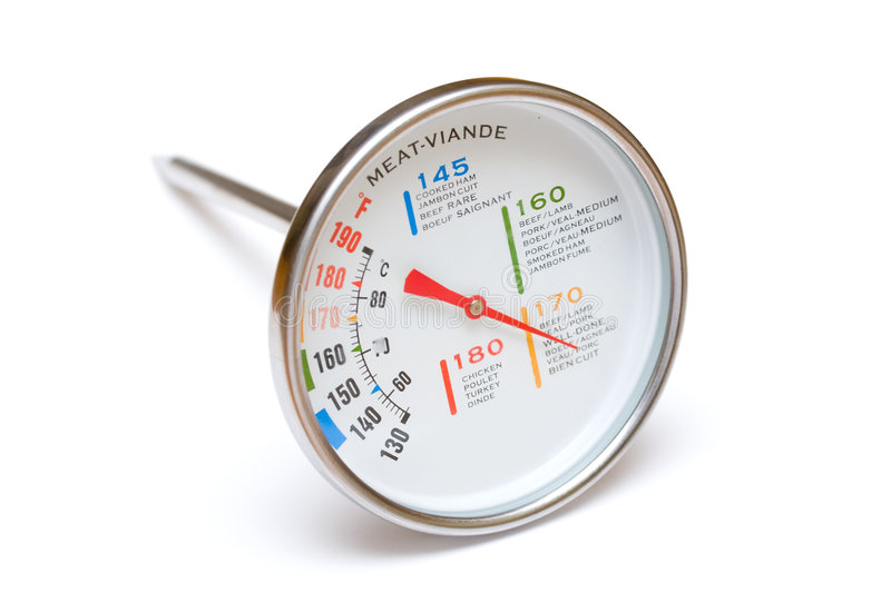 Meat thermometer royalty free stock photography