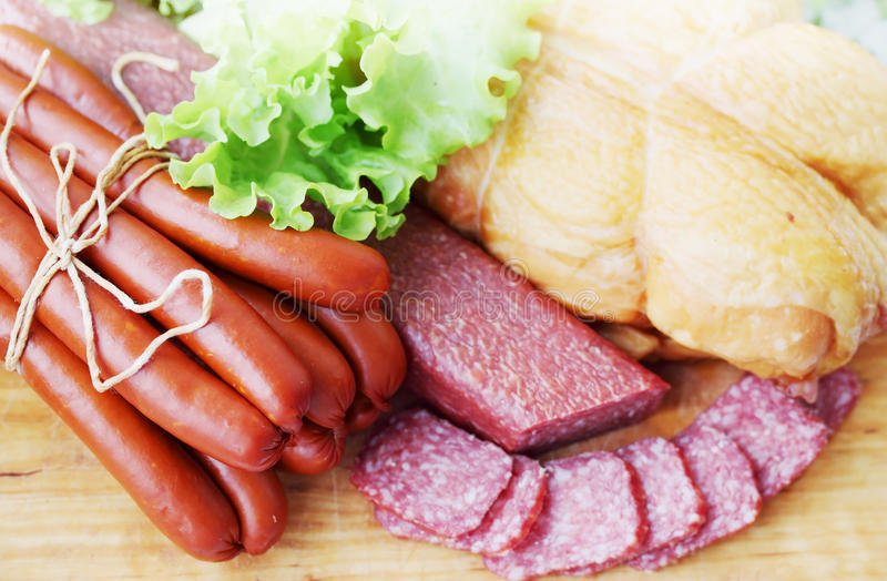 Meat, top view stock photography
