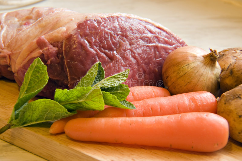 Meat And Veg Royalty Free Stock Photo