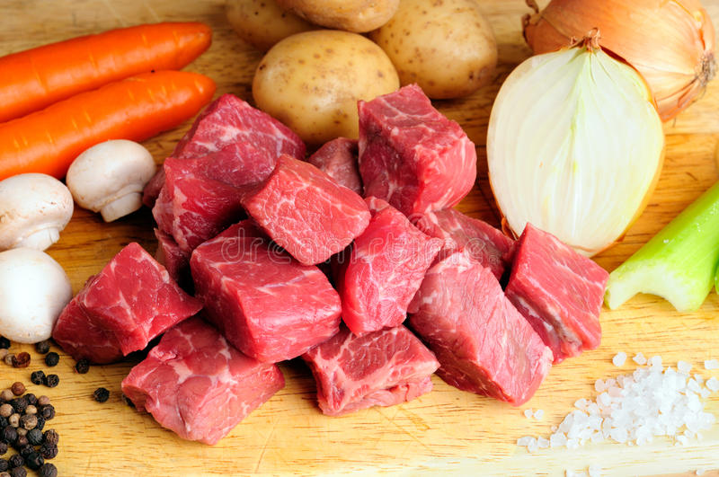 Download Meat And Vegetables stock image. Image of fresh, black - 11739997