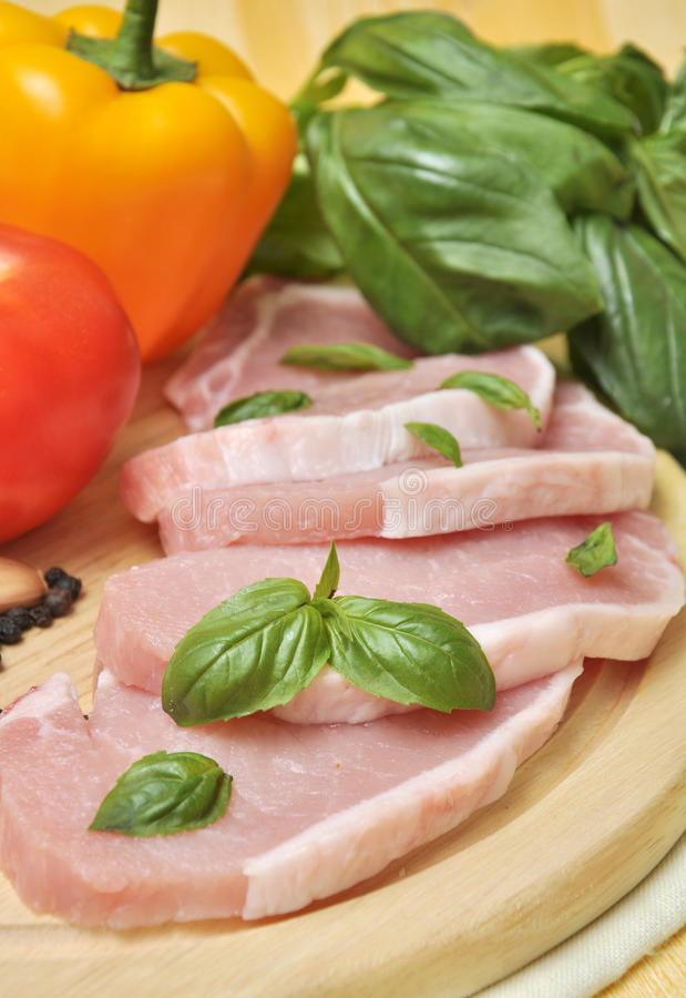 Download Meat and vegetables stock photo. Image of pork, garlic - 21248630