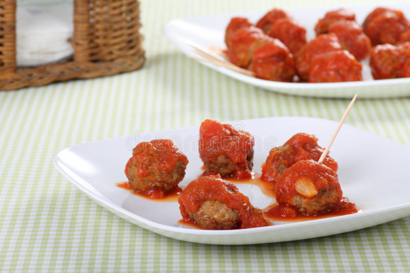 Download Meatball Appetizer stock photo. Image of tomato, hors - 15857160