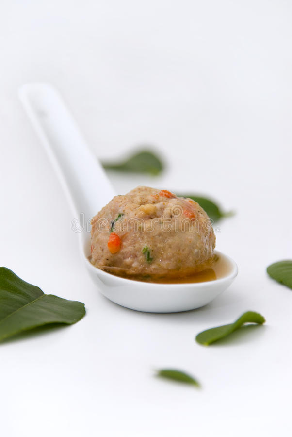 Meatball in Broth stock photo