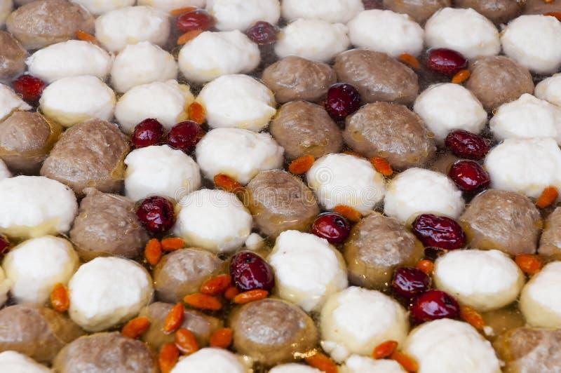 Meatball chinês fotografia de stock
