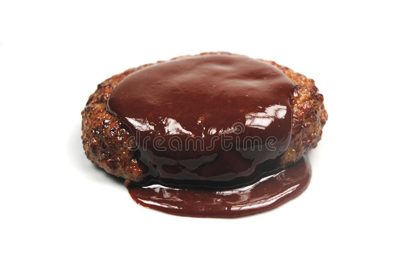 Meatball with gravy royalty free stock photos