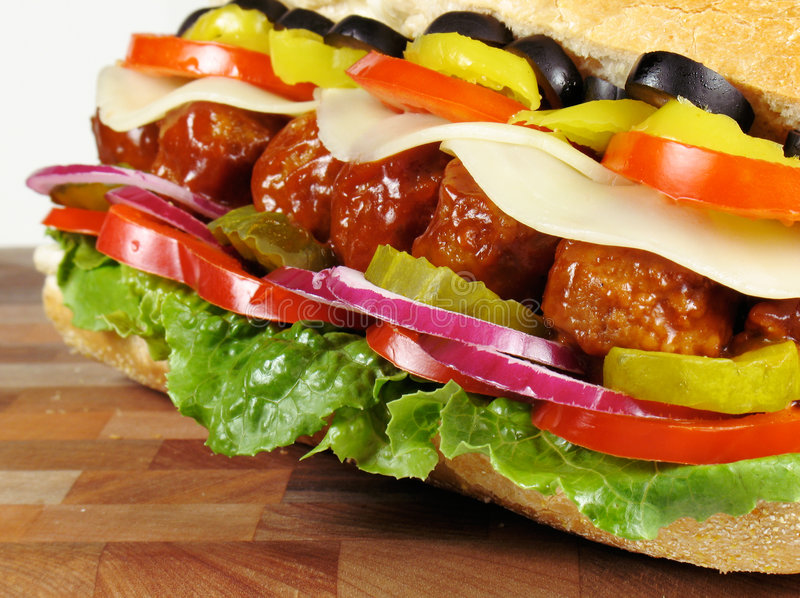 Download Meatball Sub stock image. Image of barbeque, beef, lunch - 6252003