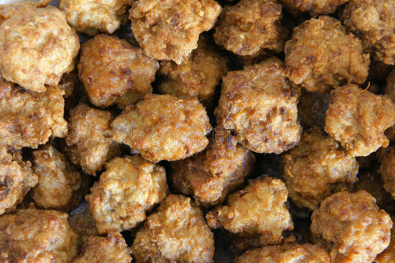 Meatballs. The background of fried meatballs royalty free stock photo