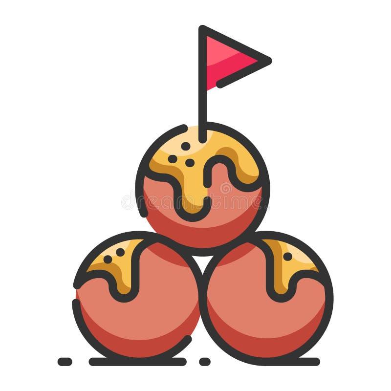 Meatballs royalty free illustration