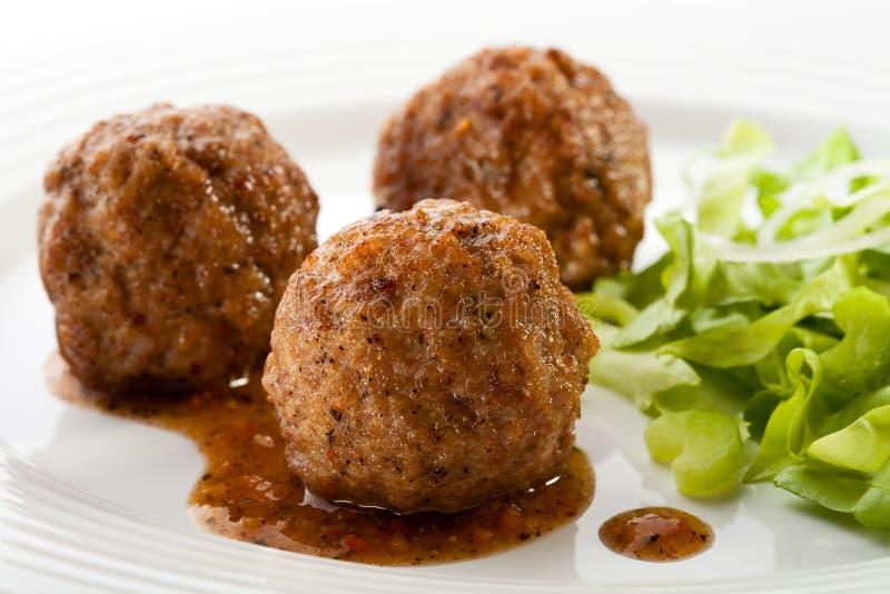 Meatballs Roasted imagem de stock