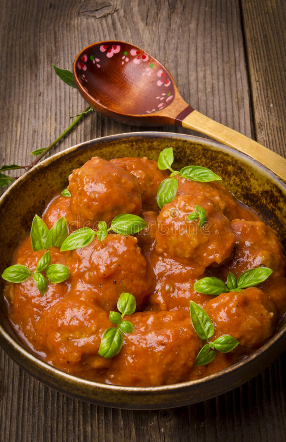 Meatballs In Tomato Sauce Royalty Free Stock Photography