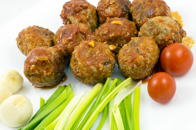 Download Meatballs With Tomato Sauce Stock Photo - Image: 83716624