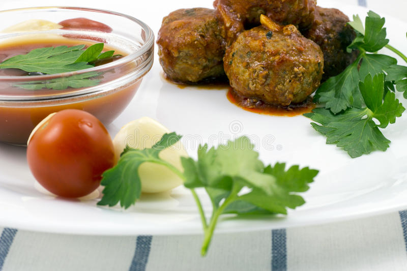 Download Meatballs With Tomato Sauce Stock Photo - Image: 83717546
