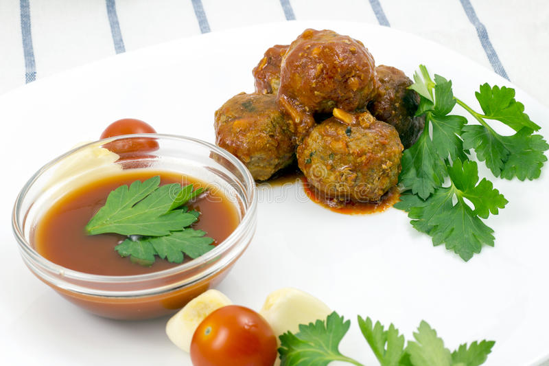 Download Meatballs With Tomato Sauce Stock Photo - Image: 83717591