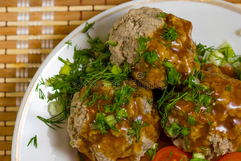 Download Meatballs stock image. Image of horizontal, color, mushroom - 30821125