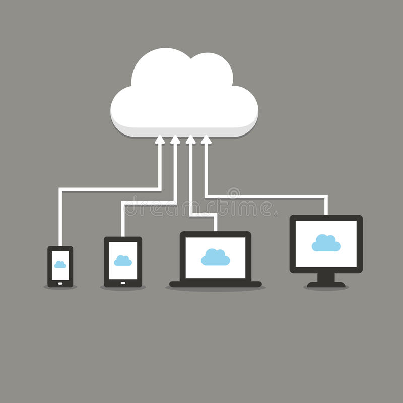 Cloud service stock illustration