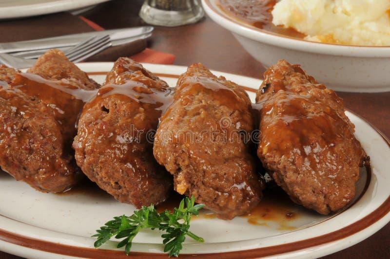 Meatloaf и картошки стоковое изображение rf
