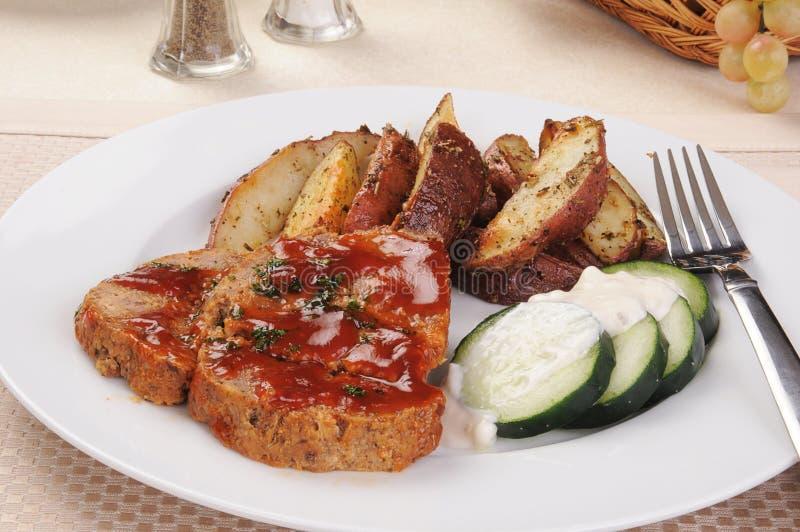 meatloaf обеда стоковые изображения rf