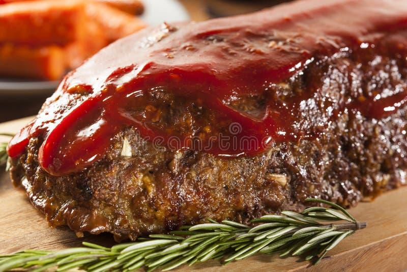 Meatloaf caseiro da carne picada fotografia de stock royalty free