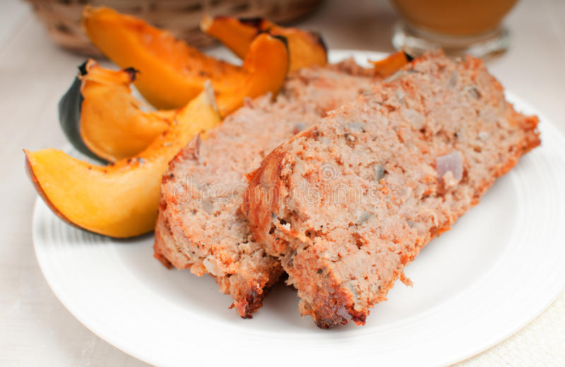 Meatloaf de Turquia com polpa roasted fotos de stock