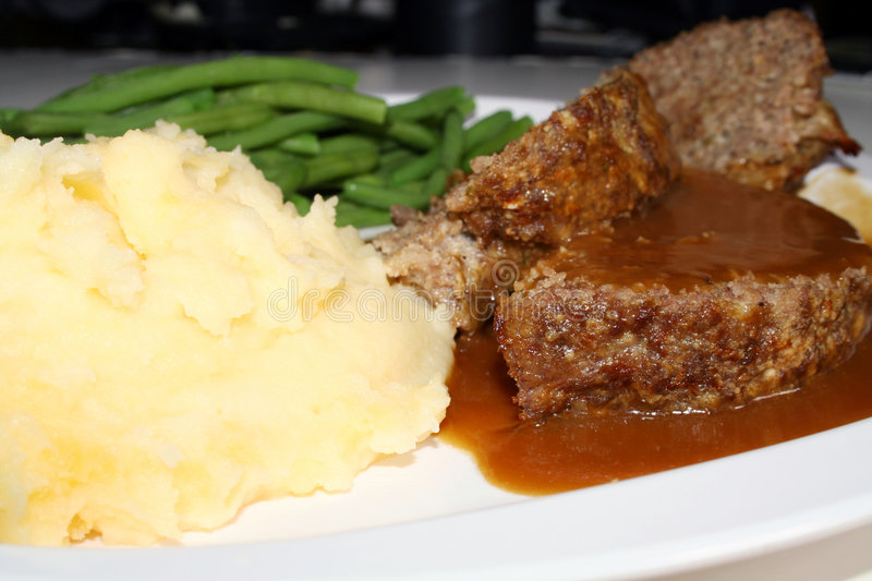 Meatloaf Dinner stock photos