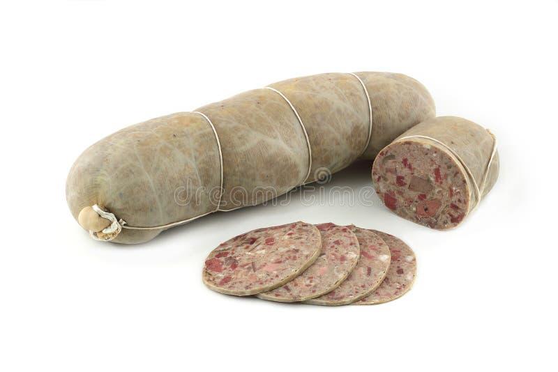 Meatloaf em um fundo branco imagens de stock royalty free