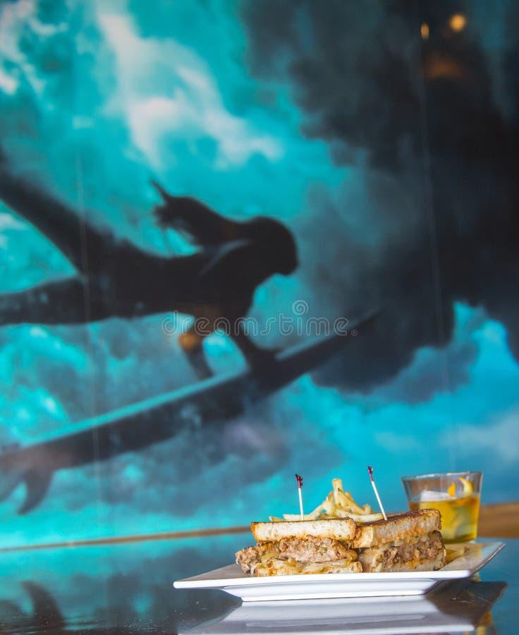 Meatloaf kanapka obrazy royalty free