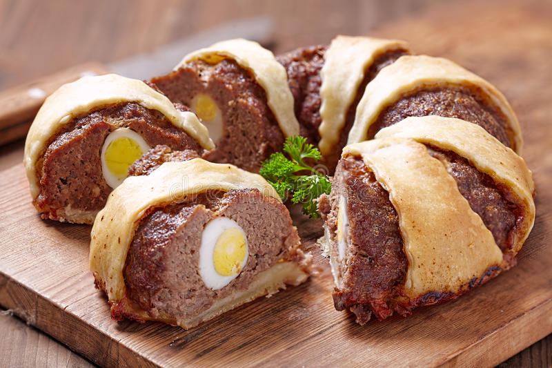 Meatloaf pierścionek fotografia stock