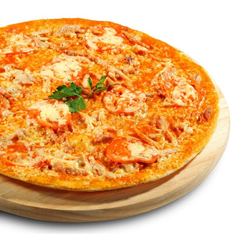 meatpizza royaltyfria foton