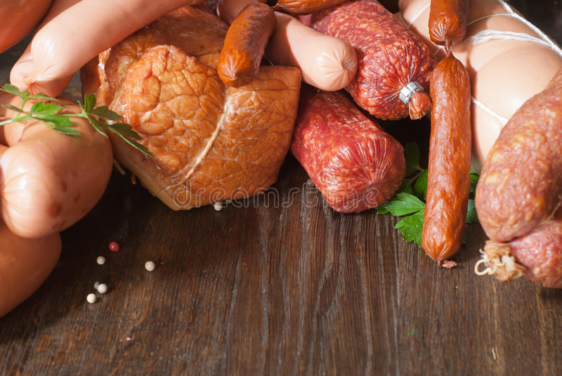 Download Meats stock photo. Image of background, salami, bacon - 26789942