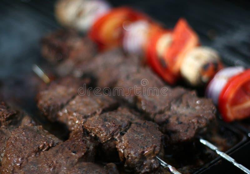 Meatsticks do BBQ imagem de stock