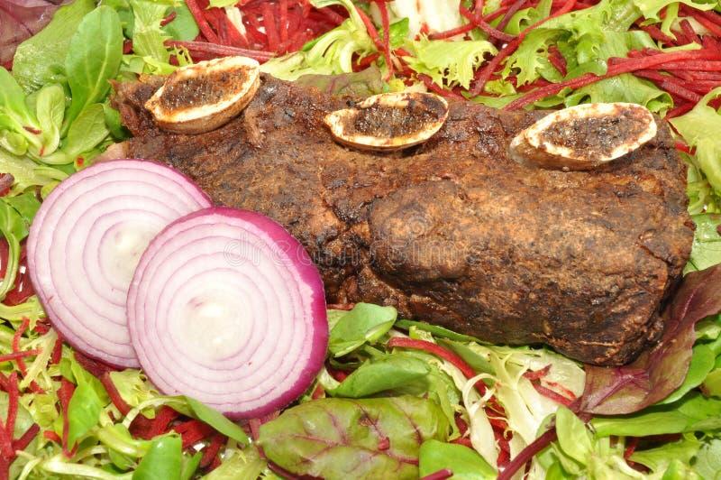 Meaty steknötköttstöd arkivbild